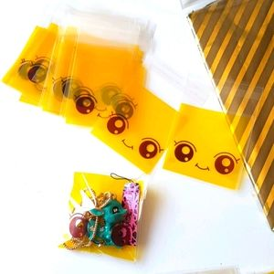 NEW 25 pcs Smiley Clear Bags Threat Bags 2.…